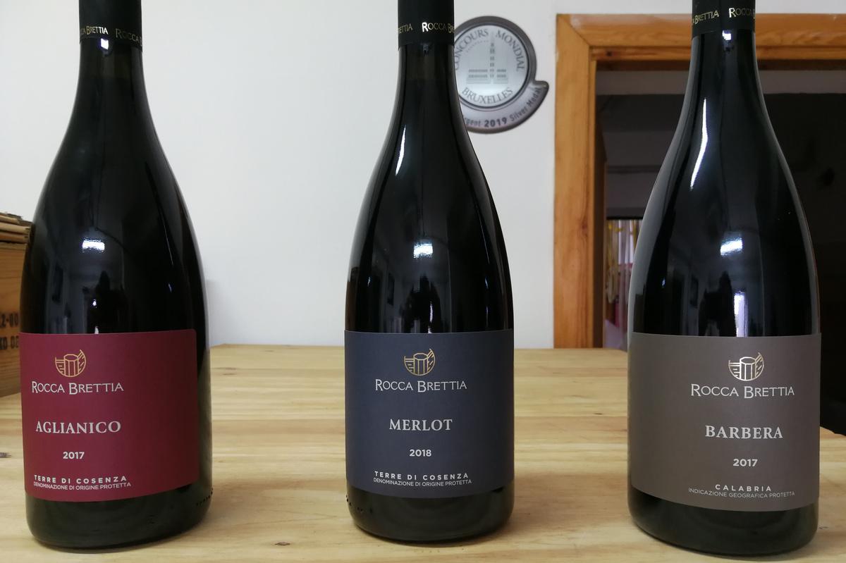 Etichette vino Rocca Brettia