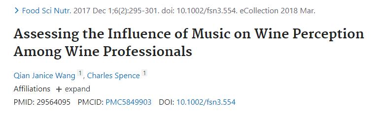 Correlazione tra la musica ed il vino