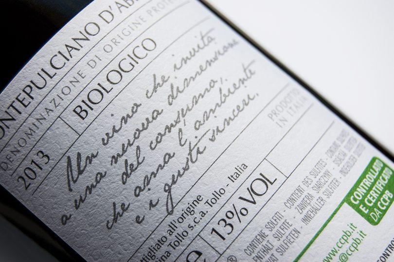 Etichetta vino biologico