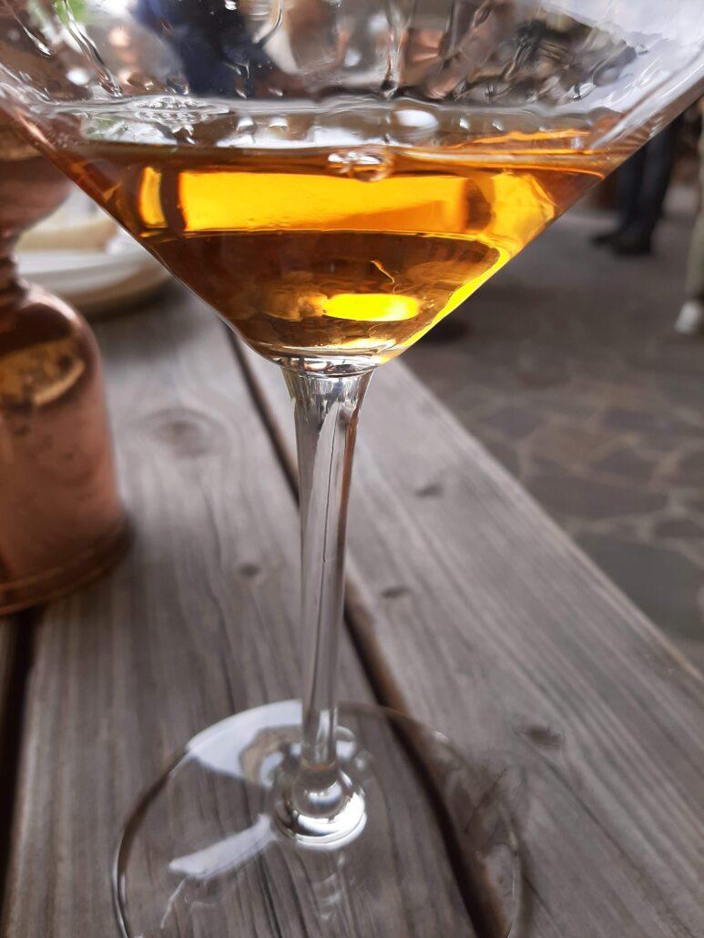 Orange Wine nel bicchiere